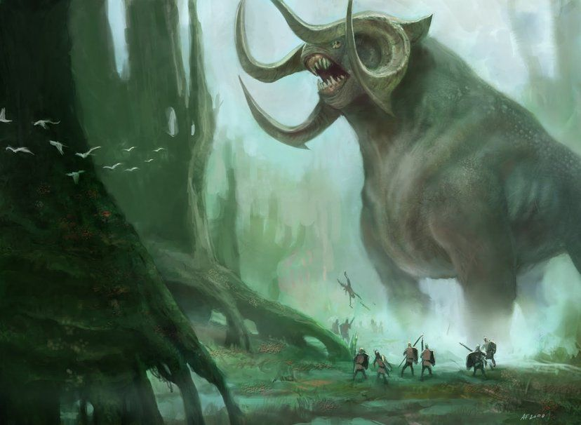 Giant Mythical Creature Wallpaper