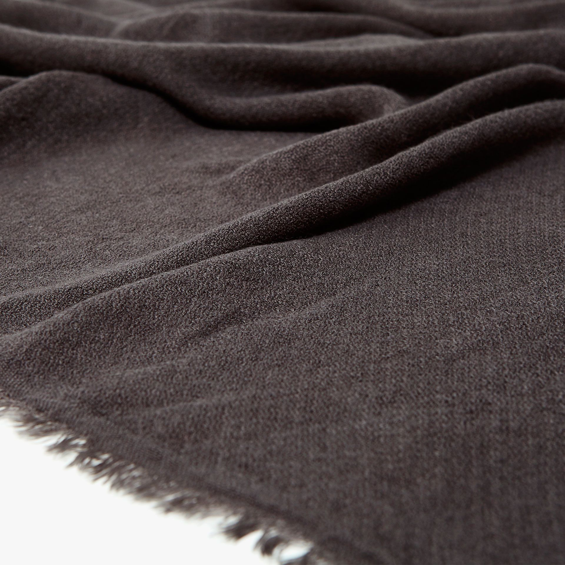 Image 3 of the product SOLID-COLOURED FOULARD BLANKET WITH FRINGE ... 7ca9a29250