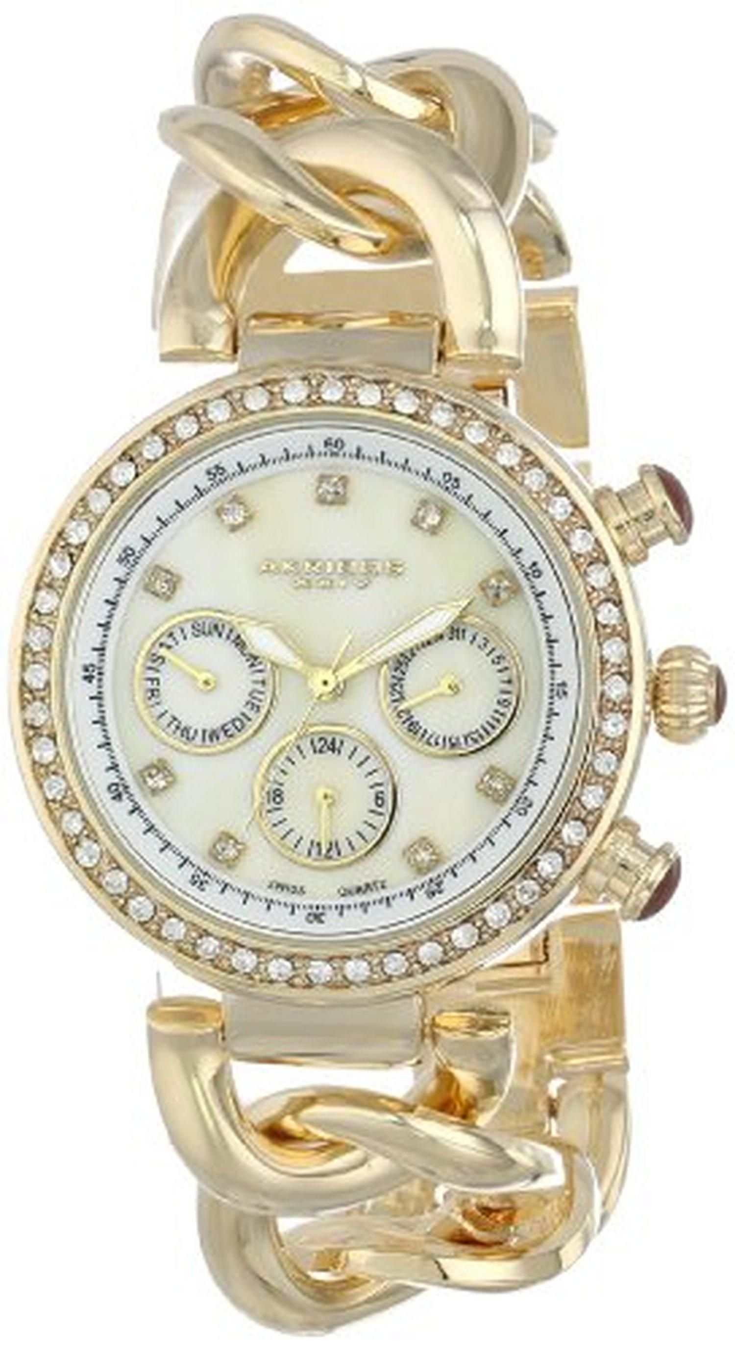 kors michael slim rose link goldtone for chain gold steel caymancode watch chainlink watches runway stainless women chains