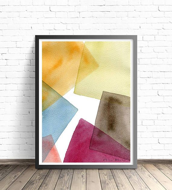 Modernist Abstract Print. Modern abstract art. Color block | AW2018 ...