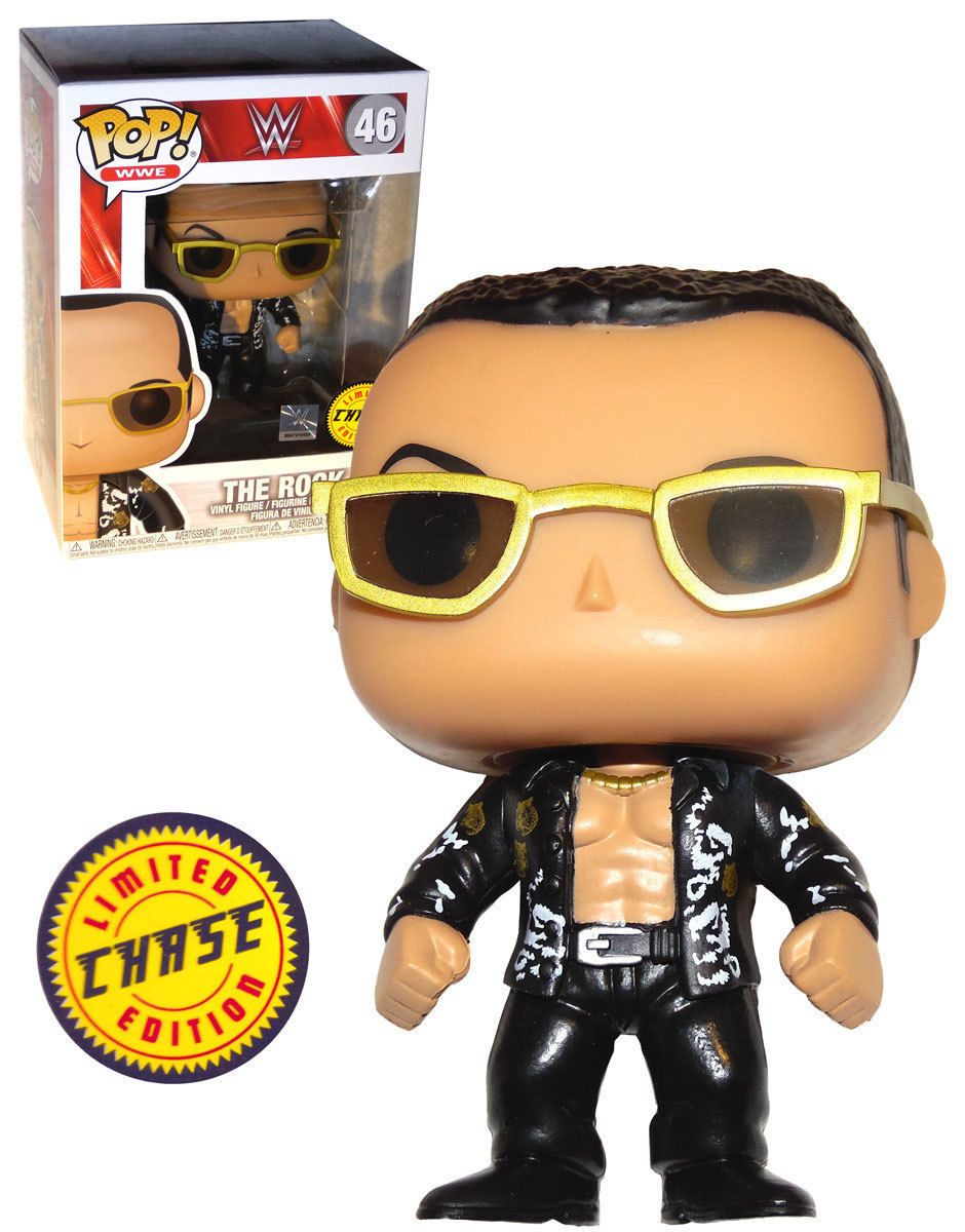 81507f7139a Funko POP! WWE Wrestling  46 The Rock - Chase Limited Edition - New