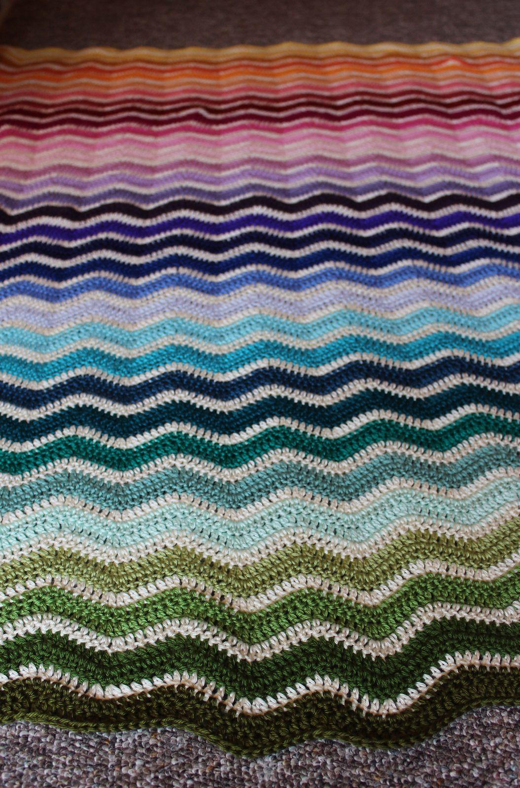 Ravelry: lverb\'s Rainbow Ripple Revisited | MANTES CROCHET ...