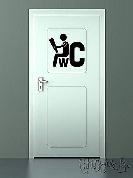 sticker enseigne pour une porte de toilettes flex vinyle cam o pinterest enseigner. Black Bedroom Furniture Sets. Home Design Ideas