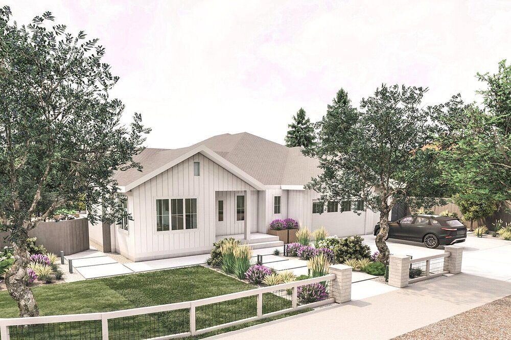 Modern Farmhouse Front Yard And Backyard Renovation In 2020 Backyard Renovations Modern Farmhouse Modern Landscaping