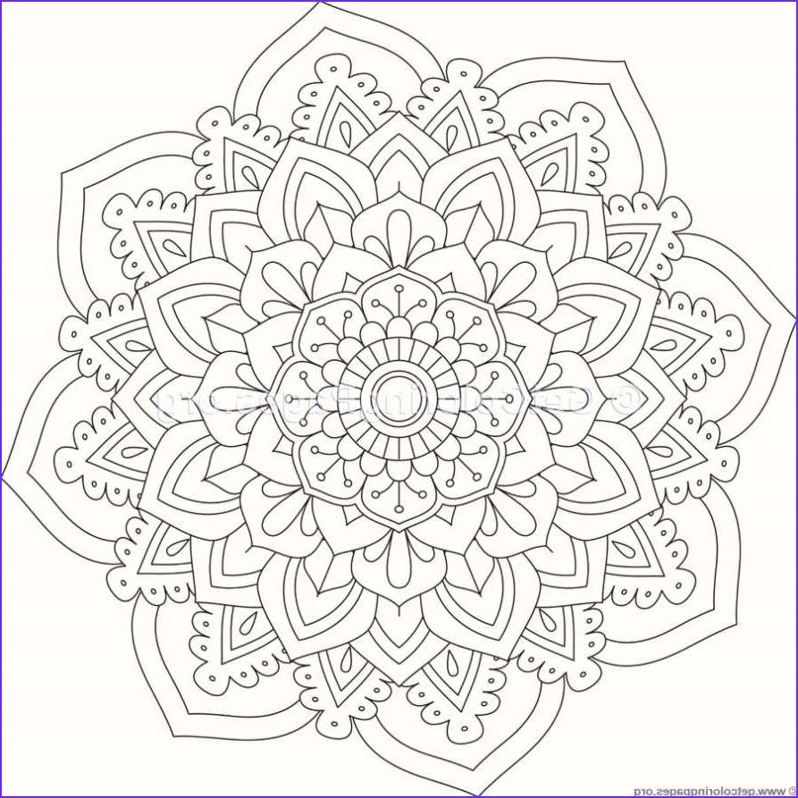 Flower Mandala Coloring Pages 21 – GetColoringPages  Malvorlagen