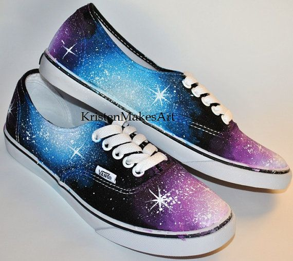 61a08561930f19 Clearance sale!! Mens 4.5 Womens 6 Galaxy Vans -  75.00