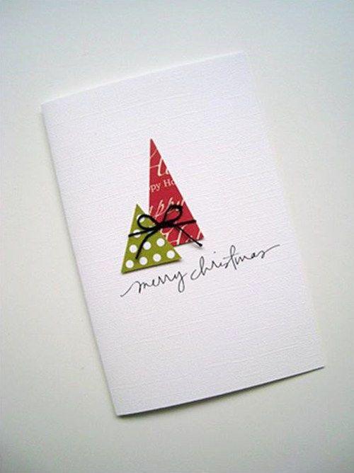 Tarjetas de Navidad originales hechas a mano 6 | Manualidades para ...