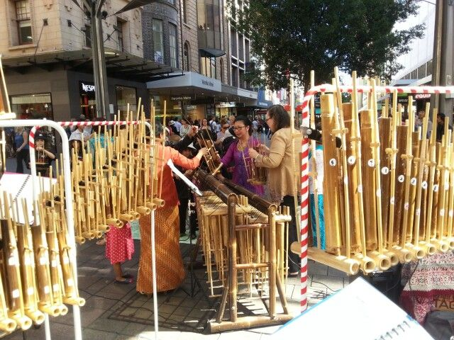 Amazing Indonesian instruments made from bamboo..