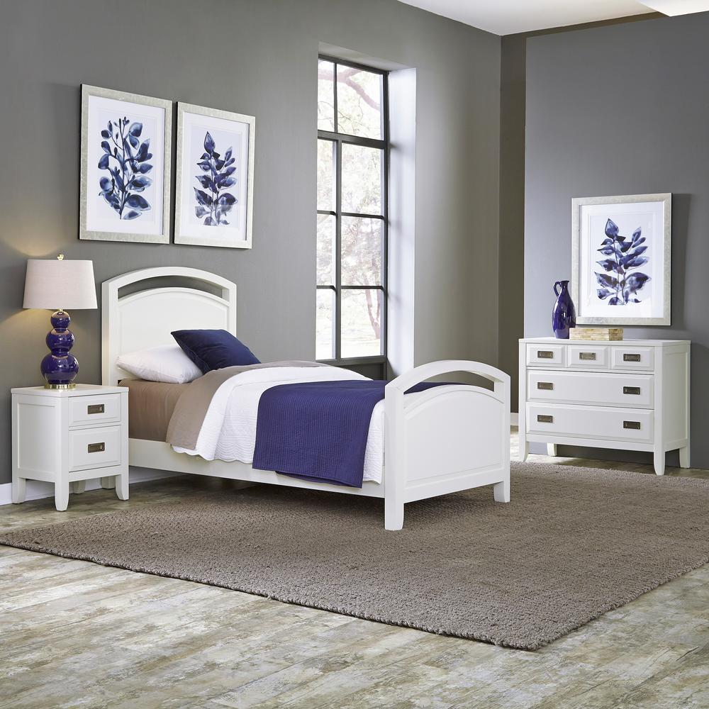 Newport 3-Piece White Twin Bedroom Set | Products | Bedroom sets ...