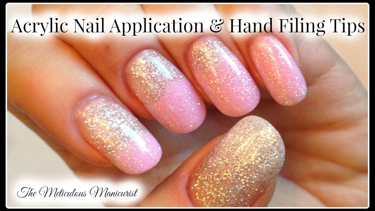 Beginners Acrylic Nails Tutorial and Hand Filing Tips | Nails ...