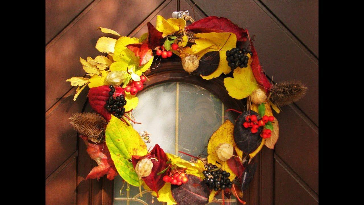 Jak Zrobic Wieniec Z Lisci Pomysly Plastyczne Dla Kazdego Fall Wreath Cheap Valentine Halloween Wreath