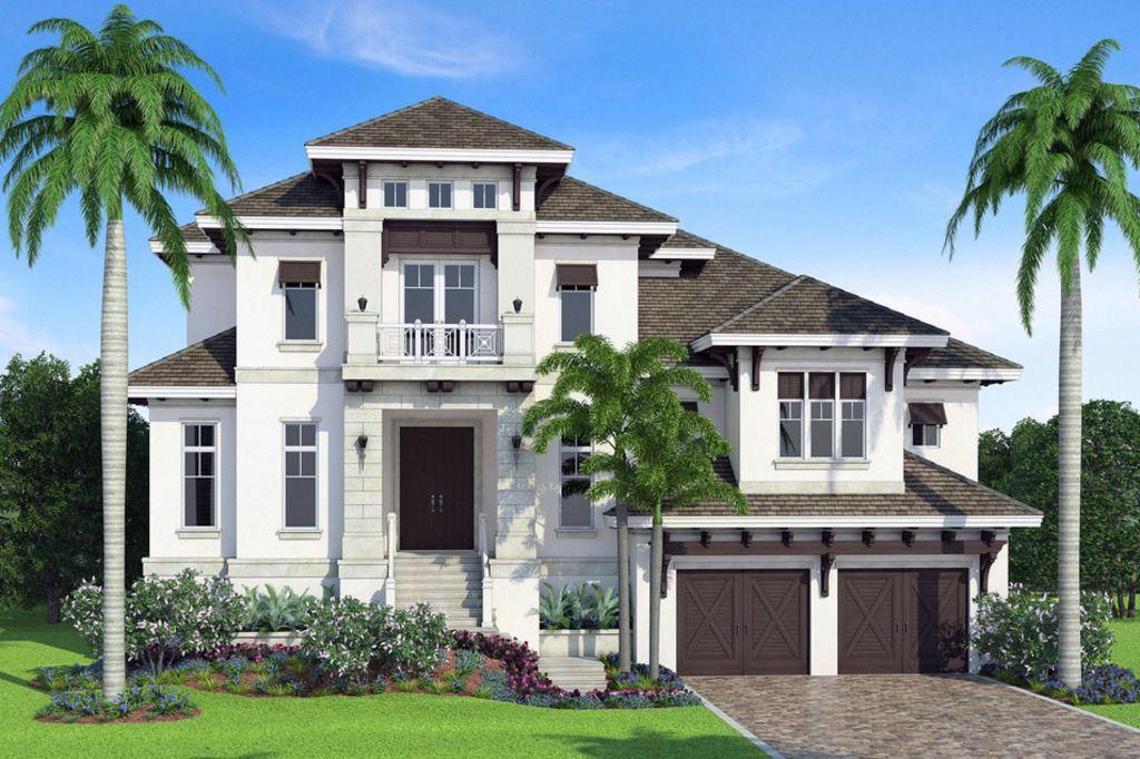 Beach Style House Plan 3 Beds 3 5 Baths 4712 Sq Ft Plan 27 569 Beach Style House Plans House Exterior Rustic Houses Exterior