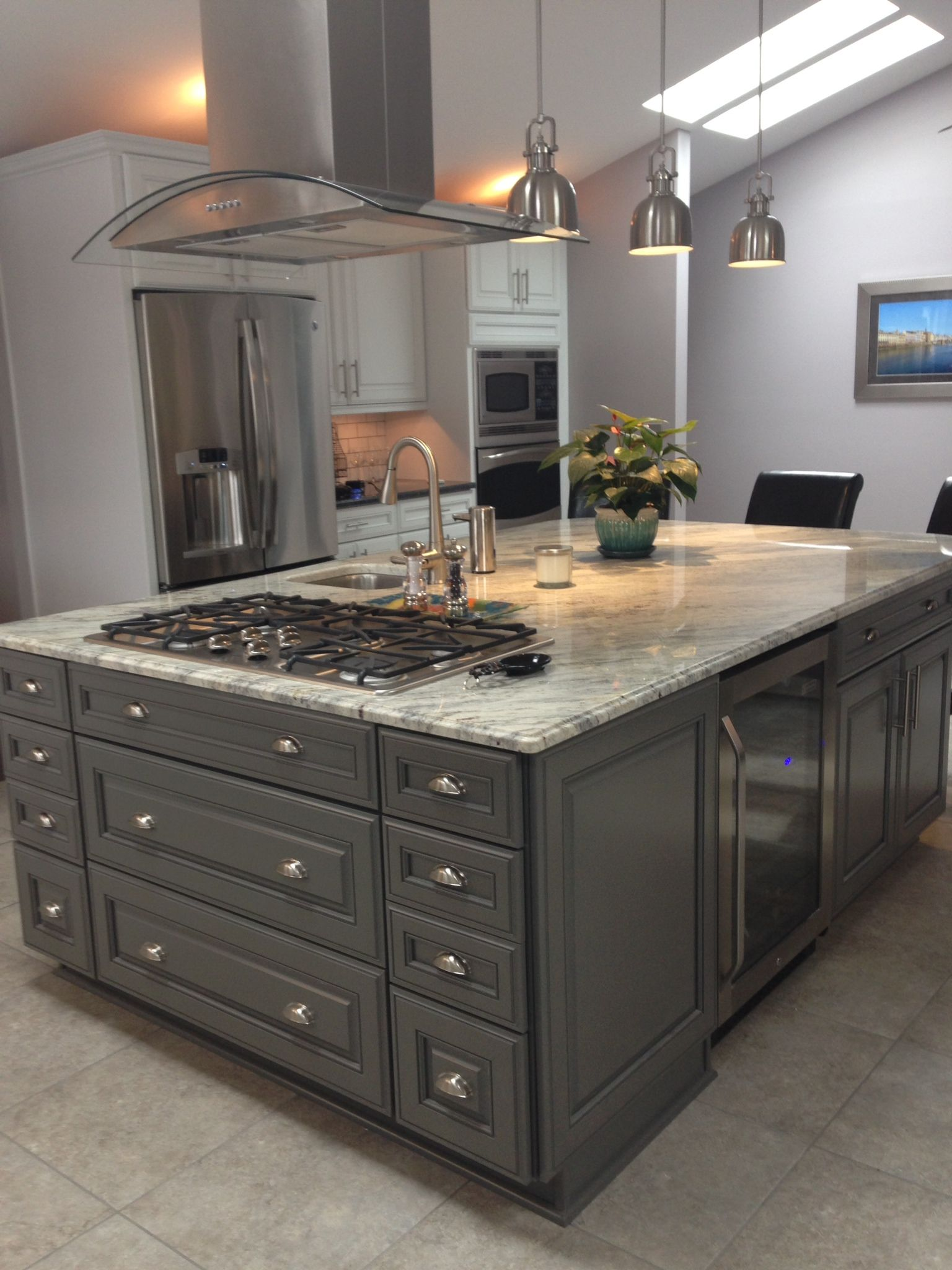 KITCHEN ISLAND WITH COOKTOP in 2019 Kitchen island with