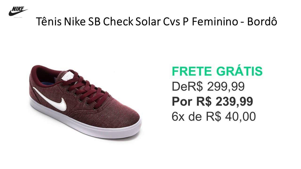 Tenis Nike Sb Check Solar Feminino Azul Piscina E Branco Nike Sb Tenis Nike Tenis Nike Sb Check