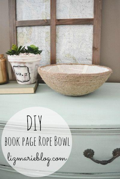 Make it book page rope bowl diy design bowls and craft diy book page rope bowl diy craft craft ideas diy ideas diy crafts do it yourself crafty twine crafts book page rope bowl solutioingenieria Choice Image