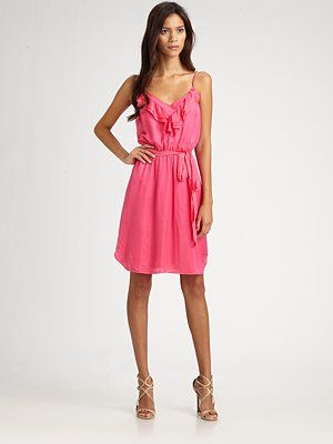 rebecca taylor neon pink ruffle dress...I want it!
