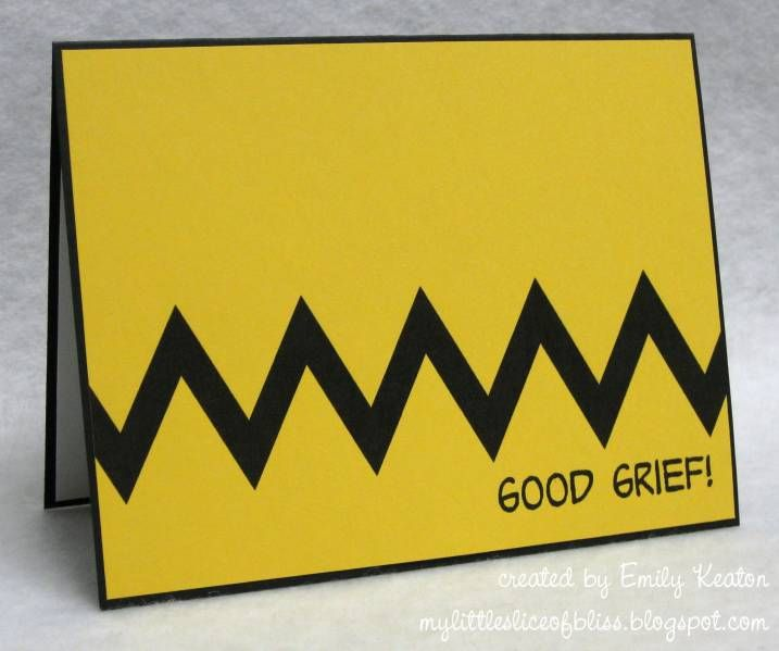 Good Grief card, this could also say