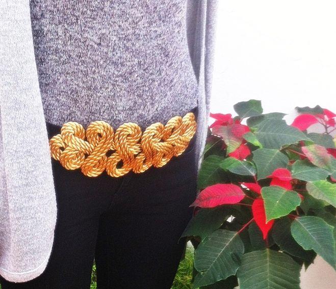 Cinturón Nudo en cordón dorado, disponible en el color que te guste! 30€ https://www.facebook.com/pages/Vaitiare/615059035213019