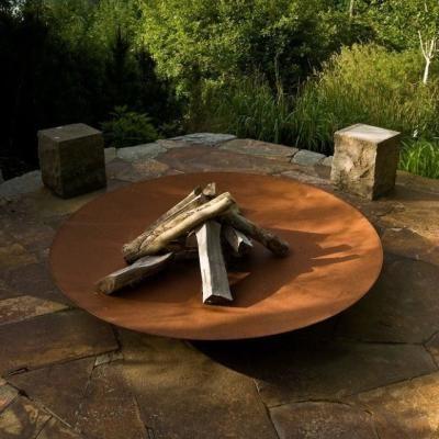 Corten Steel Fire Pit More - Corten Steel Fire Pit … Metal Work - Project Ideas Pinte…