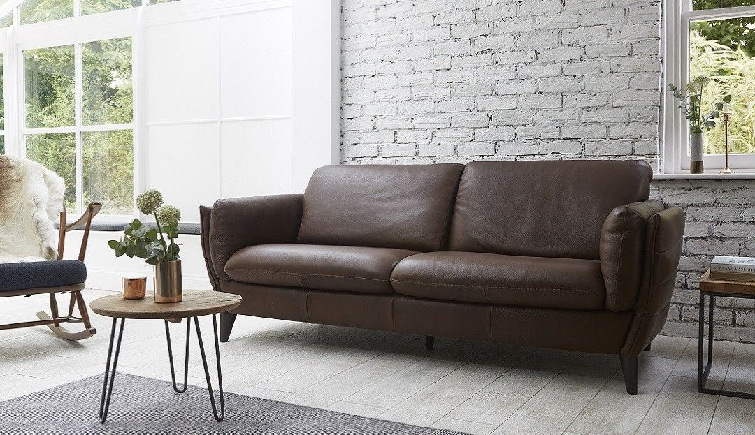 Natalia Italian Leather Sofa Modern Leather Sofa Distressed