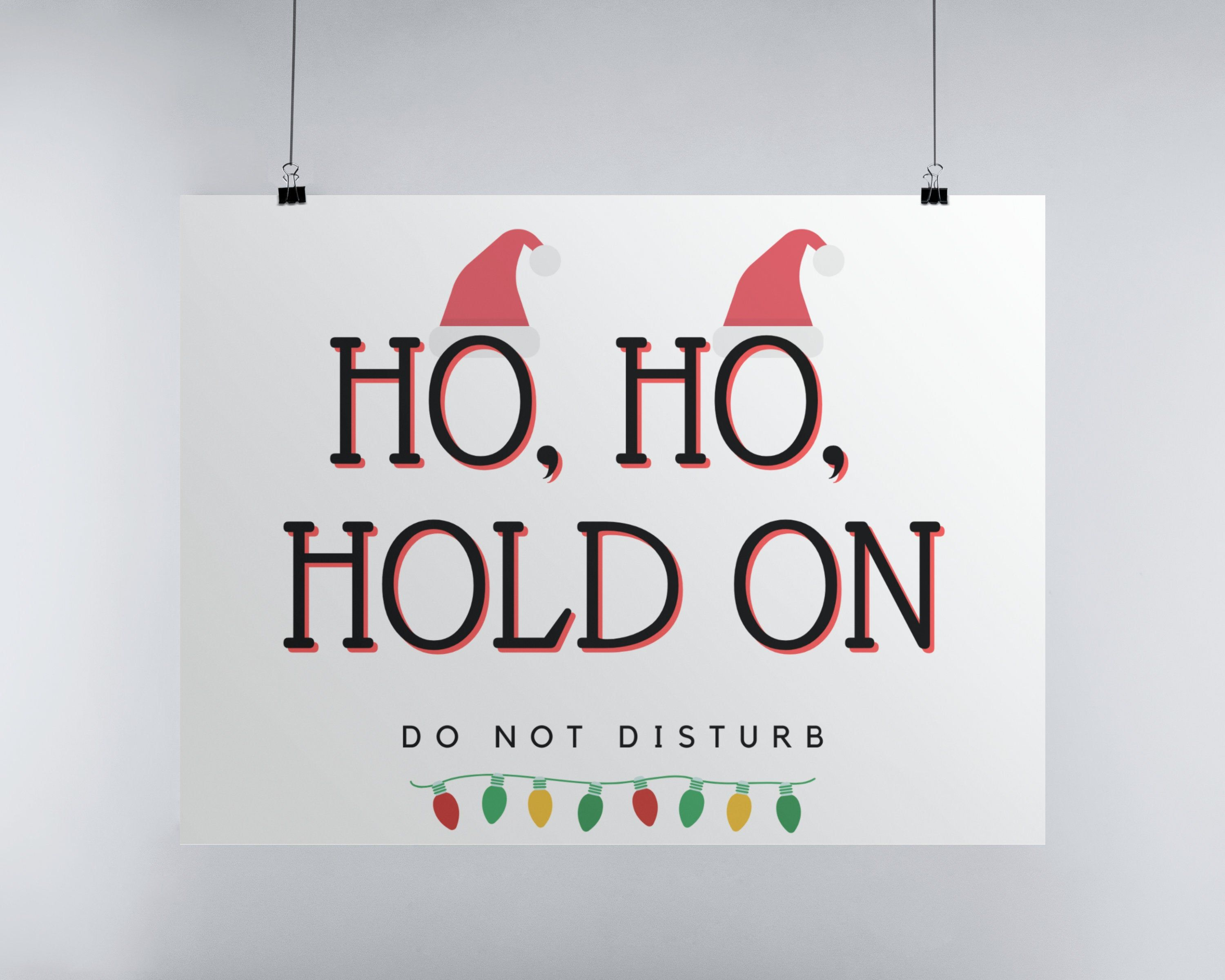 Printable Signs For Office Closed For Christmas 2020 Christmas Door Sign Do Not Disturb Sign Christmas Office   Etsy in