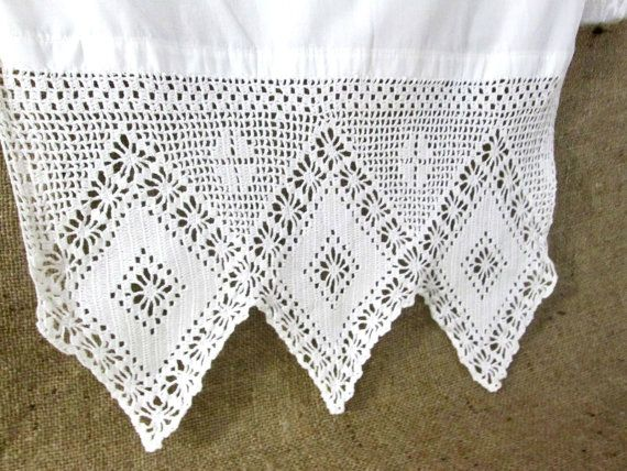 Vintage Lace Table Runner Dresser Scarf Filet By Vintagelinens