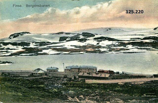 Hordaland fylke Ulvik kommune Finse, Bergensbanen