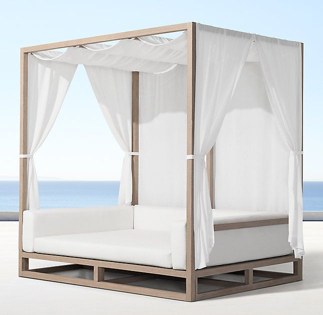 Rh 39 S Aviara Daybed Artisan Barlas Baylar Brings Modern Amp 233 Lan To The Outdoor Daybed Crafted Of The Fi Summer Furniture Outdoor Daybed Daybed Canopy