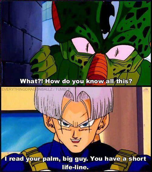 trunks you re so sassy lol dragon ball z mirai trunks cell