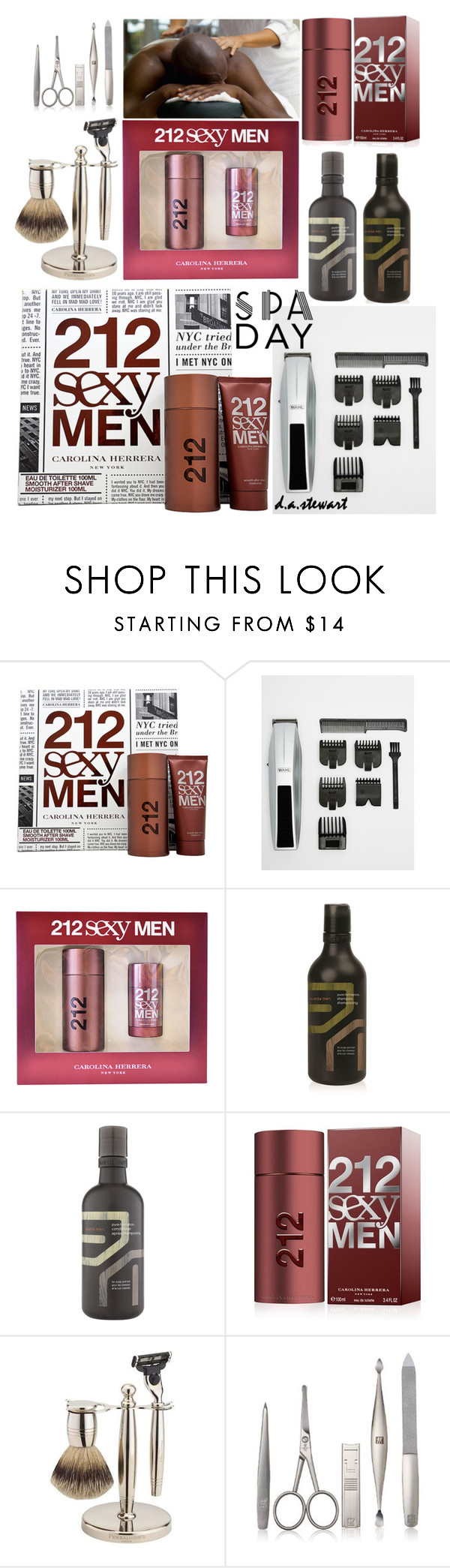 """""""REST & RELAXATION"""" by dastewart ❤ liked on Polyvore featuring beauty, Carolina Herrera, Wahl, Aveda, PENHALIGON'S, Zwilling Pour Homme and spaday"""