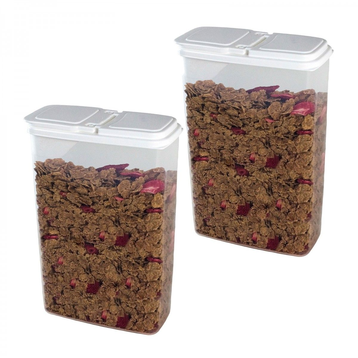 Buddeez 2 Pack of 4 Quart Bag in Dispensers for Cereal Dry Goods