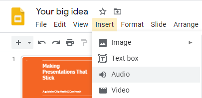 How To Record Add Voice Over In Google Slides Google Slides The Voice Records