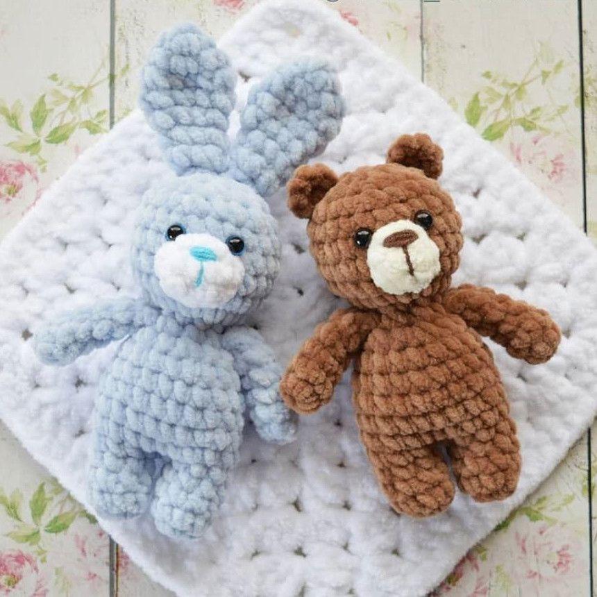 Мини мишка и зайка амигуруми. Схемы и описания для вязания ...