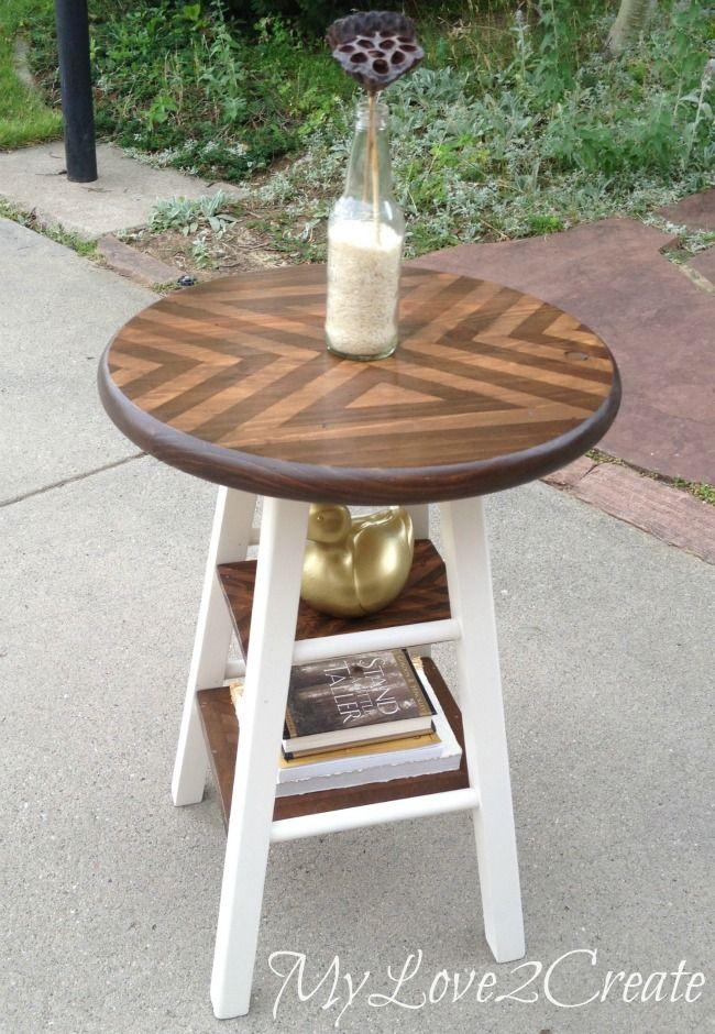 Stool Turned Side Table Diy Furniture Hacks Ikea Stool Side