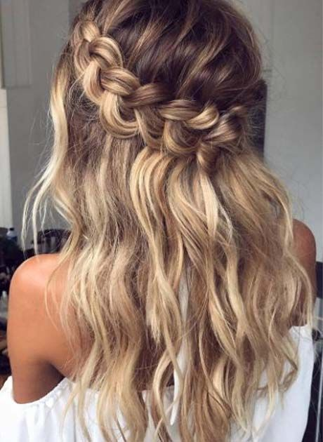 30+ Waterfall Braid Hairstyles that looks flirty and fashionable - Hike n Dip