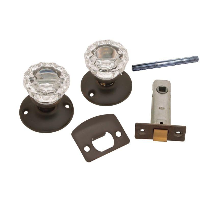 Vintage Bronze Glass Knobs Belwith Products 1148-VB Passage Door Latch Set