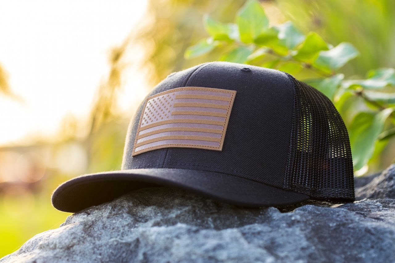 American Flag Hat | Hats | Mens trucker hat, Black trucker
