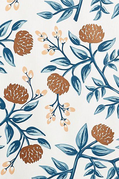 Floral Patina Wallpaper Vintage flower backgrounds