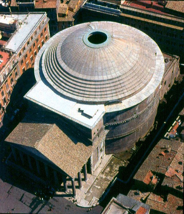 Construction Concrete Dome Home: The Pantheon Is Located In Rome, Italy. It Is One Of The