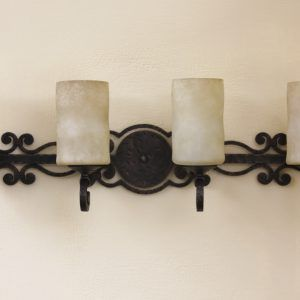 Wrought iron bathroom vanity lights httpwlol pinterest wrought iron bathroom vanity lights aloadofball Image collections