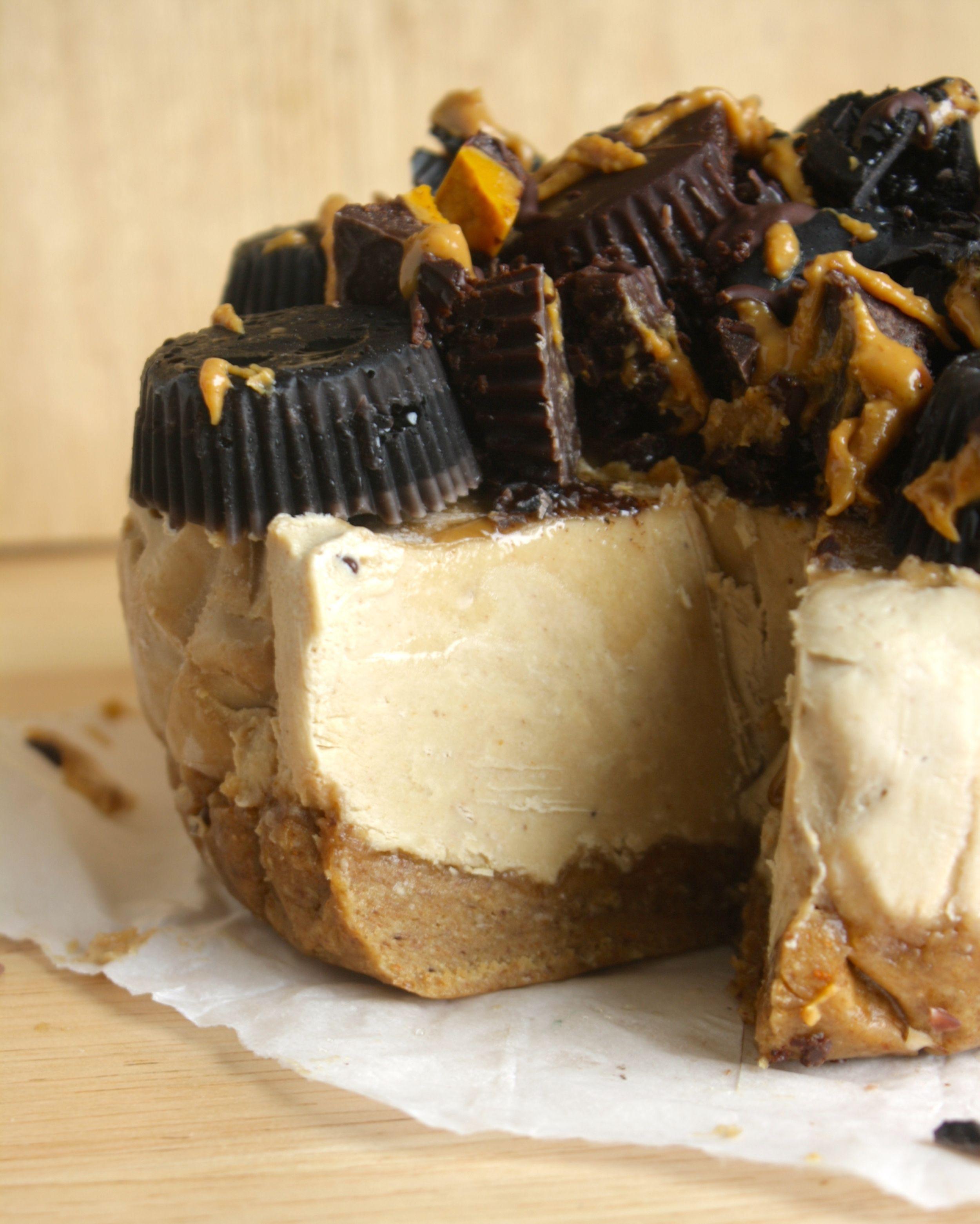 Peanut Butter Banana Cheesecake Raw Vegan — CREATE N