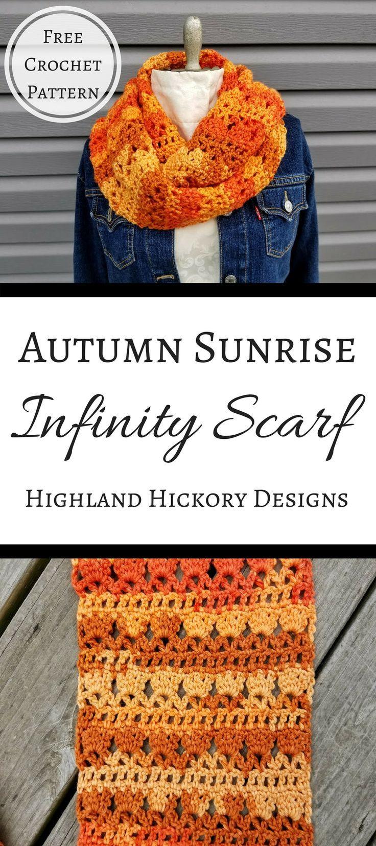 Autumn Sunrise Infinity Scarf | Patrones y Tejido