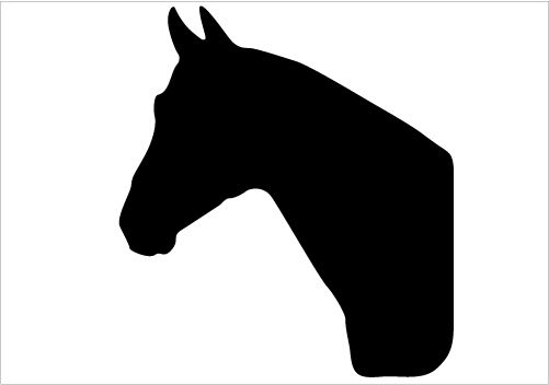 Horse Head Silhouette Single Detailed Vector Download ...