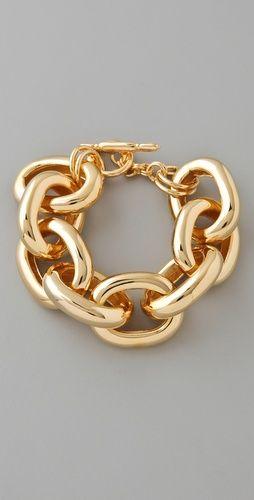 I Love Chain Bracelets Kenneth Jay Lane Gold Large Link Bracelet