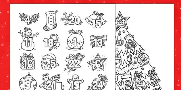 New Christmas Mindfulness Colouring Advent Calendar Advent Coloring Mindfulness Colouring Face Template