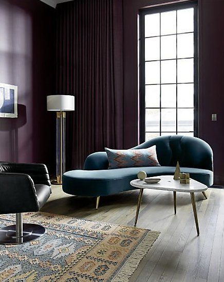 Copine Peacock Velvet Curved Chaise Lounge In 2019