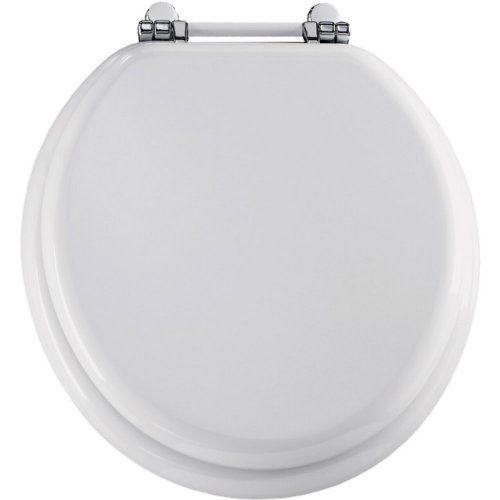 bemis white toilet seat. Bemis 960PCH000 Molded Wood Retro Round Toilet Seat With Chrome White  Hinges Http Www Amazon Com Dp B001PTQXOC Ref