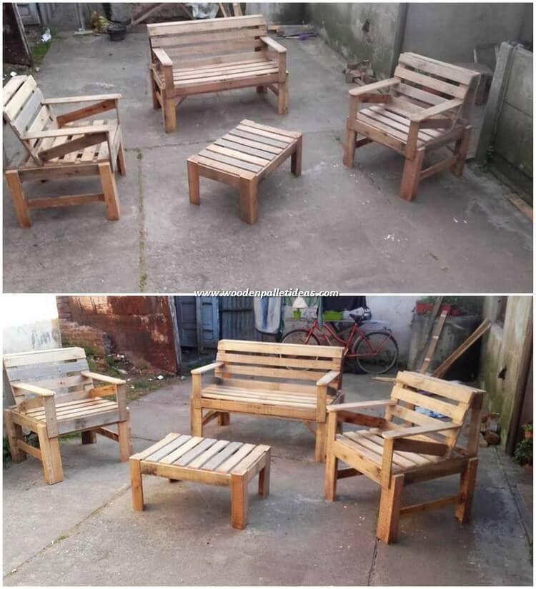 Excellent Diy Wooden Pallets Reusing Ideas Pallet Furniture Used Outdoor Furniture Wooden Pallets