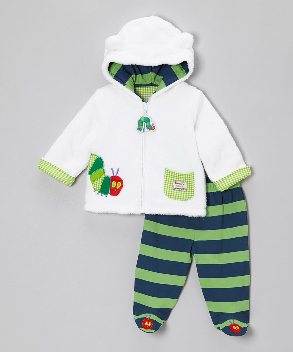 Eric Carle Baby Girls Coverall Long Sleeve Onesie