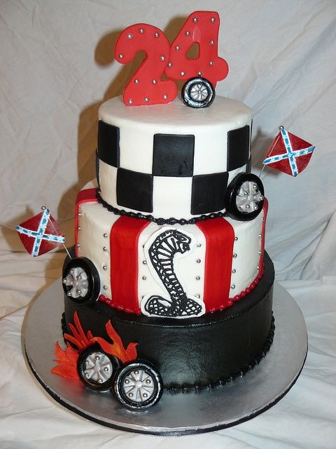 Mustang Cobra birthday cake cars Pinterest car cake
